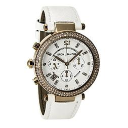 Michael Kors Women's Parker MK2281 White Leather Quartz Watc