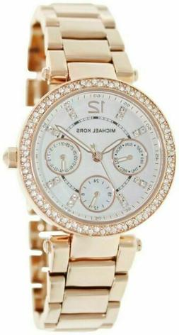 Michael Kors Women's Parker Rose Gold-Tone Watch MK5616
