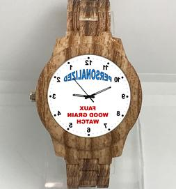 Personalized custom Watch Faux Wood Grain  logo design image