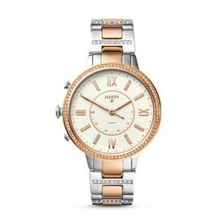 Fossil Q Women's Virginia Two-Tone Stainless Steel Hybrid Sm