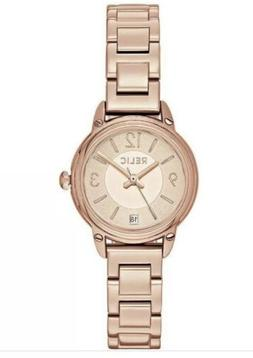 Relic By Fossil Pink Gold Tone Women Watch