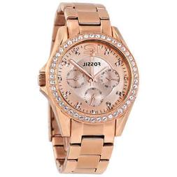 Fossil Riley Multi-Function Rose Gold-plated Ladies Watch ES