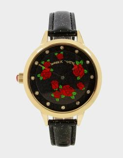 Betsey Johnson - Round & Round Roses Watch - Gold - 259137GL