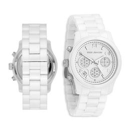 Michael Kors Runway Chronograph White Dial Two-tone Ladies W