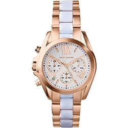 Michael Kors Women's Safari Chic Mini Bradshaw Watch, Rose G