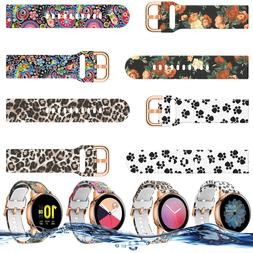 For Samsung Galaxy Watch Active 2 40mm 44mm Silicone Printin