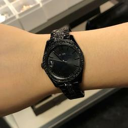 Fossil Scarlette Three-Hand Date Black Stainless Steel Watch