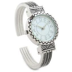 Silver Metal Western Style Round Face Decorated Women's Bang