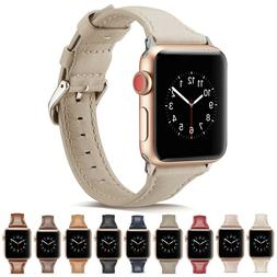 Slim Luxury Leather iWatch Band Women Strap for Apple Watch