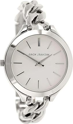 Michael Kors Slim Runway White Dial Stainless Steel Ladies W