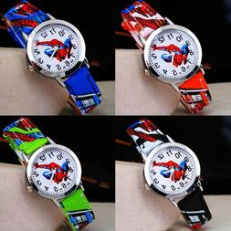 Spiderman PU Leather Wrist Watch Lady Girl Boy Women Teens K