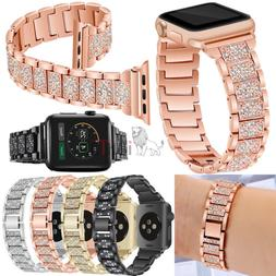 Stainless Steel For Apple Watch 3 2 1 42/28mm Band for Women