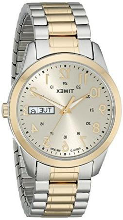 Timex Men's T2M935 Elevated Classics Dress Two-Tone Expansio