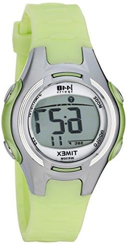 Timex Women's T5K081 1440 Digital Watch with Light-Green Res