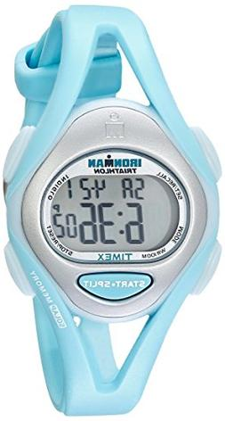 Timex Women's T5K701 Ironman Sleek 50 Mid-Size Mint Blue Res