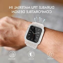 Transparent Clear Sport Band For Apple Watch 5 4 3 2 1 38/40