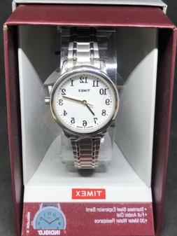 Timex TW2P78500 Women's Easy Reader Silvertone Expansion Ban