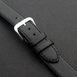 UNISEX GENUINE LEATHER  BLACK Watch Strap Replacement  Band