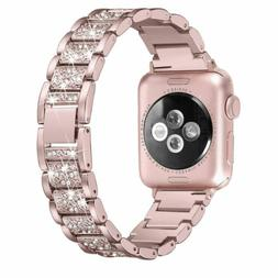 US Apple Watch Band, Women Stainless Steel Replacement Strap