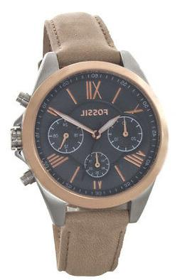 Fossil Vintage Muse Grey Dial Tan Leather Strap Women's Watc