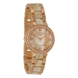 Fossil Virginia Rose Dial Rose Gold-tone and Horn Acetate La