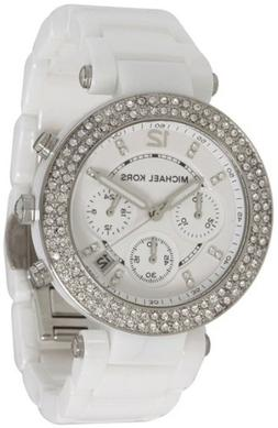 Michael Kors Women's 'Parker' White Chronograph Watch - MK56