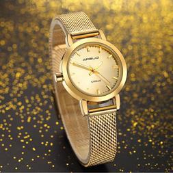 Women Dress Watches Ladies Quartz Watch Stainless Steel Mesh