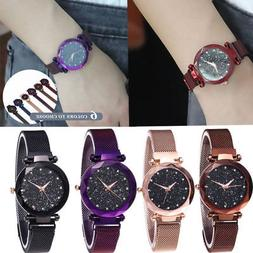 Women Ladies Watch Starry Sky Diamond Dial Bracelet Watches
