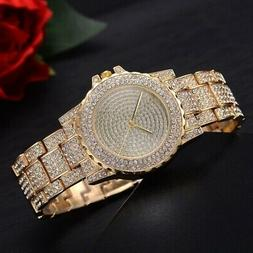 Women Lady Diamond Bling Watches Luxury Rhinestone Wristwatc