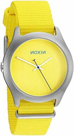 Nixon Women's A348-1599-00 Mod 38mm Bright Yellow Watch A348