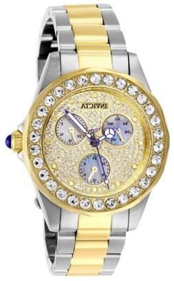 Invicta Women's Angel 28459 38mm Charcoal Dial Stainless Ste