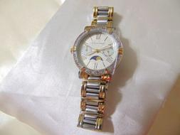 Anne Klein Women's Crystal Accented Two-Tone Bracelet Watch