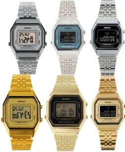 Casio Women's Digital Stopwatch Silver/Gold Tone Stainless S