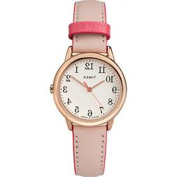 Timex Women's Easy Reader Color Pop 30mm Leather |Pink| Casu