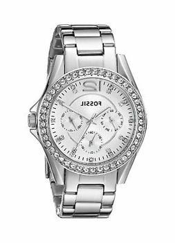 Fossil Women's ES3202 Riley Multi-Function Silver Stainless