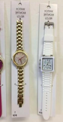 Women's Fashion Wristwatches -New-One Silicone Jelly Band &