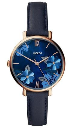 Fossil Women's Jacqueline ES4673 Rose-Gold Leather Japanese