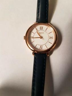 Fossil women's jacqueline navy leather watch es 4410