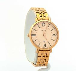 Women's Fossil Jacqueline Rose-Tone Stainless Steel Watch ES