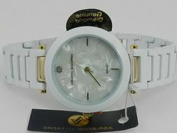 women s mother of pearl face watch