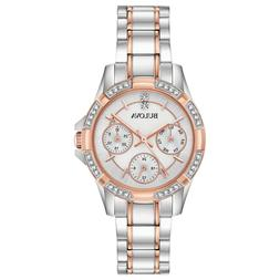 Bulova Women's Quartz Crystal Accents Rose Gold Tone 32mm Wa