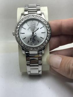 WOMEN'S US POLO ASSN ANALOG CLASSIC WATCH SILVER TONE BAND/D