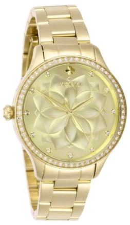 Invicta Women's Wildflower 28056 35mm Gold Dial Stainless St