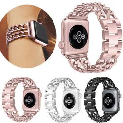 Women Stainless Steel Strap For Apple Watch Series 4 3 2 1 4