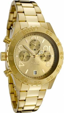 Invicta Womens II Collection Chronograph Gold Dial 18k Toned