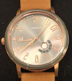 Fossil Womens Muse ES4266 Brown Leather Rose Gold Tone Class